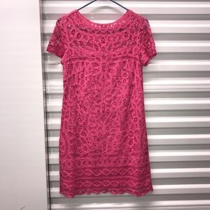 Lilly Pulitzer Pink Marie Kate Lace Dress Sz S